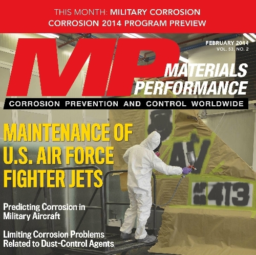Image of Predicting corrosion in military aircraft (Materials Performance, Feb 2014)