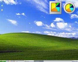 schermafbeelding van bureaublad met kleurenklok