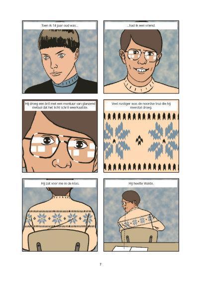pagina uit stripverhaal het geheim van de ruimtelift