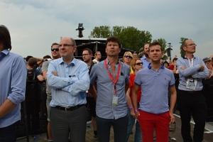 Minister Koen Geens bezoekt festivalweide