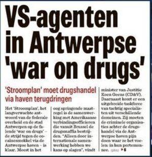 VS-agenten in Antwerpse