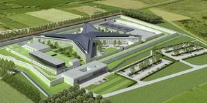 Ster met kilometer ringmuur, watergracht en 1.800 speciale deuren: zo zal nieuwe gevangenis van Dendermonde eruitzien