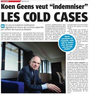 """Koen Geens veut """"indemniser"""" les cold cases"""