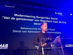 Digitale burgerlijke stand bekroond op Agoria e-gov Award