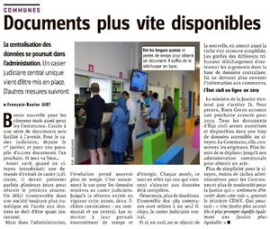 Documents plus vite disponibles