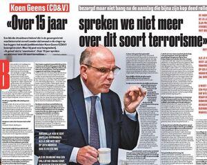"""""""Over 15 jaar spreken we niet meer over dit soort terrorisme"""""""