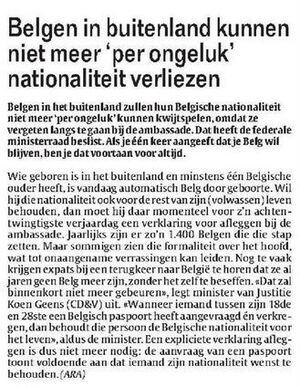 Belgen in buitenland kunnen niet meer