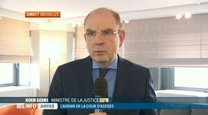 Réforme de la justice: infos en direct avec le Ministre Koen Geens