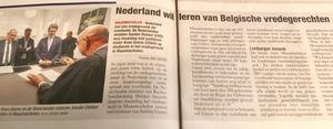 Nederland wil leren van Belgische vredegerechten