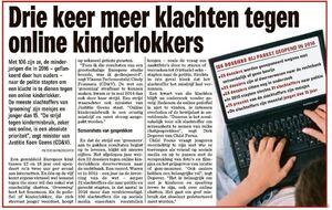 Drie keer meer klachten tegen online kinderlokkers