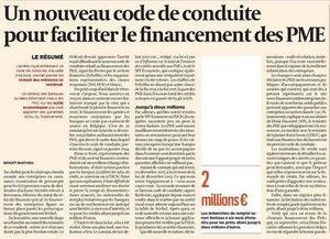 Un nouveau code de conduite pour faciliter le financement des PME