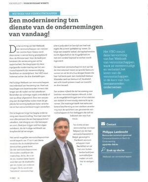 Een modernisering ten dienste van de ondernemingen van vandaag (Philippe Lambrecht)
