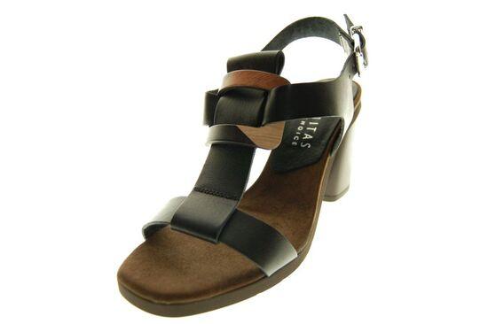 Hispanitas - Sandaal - Leder - Zwart
