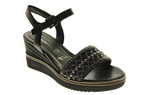 Tamaris - Sandaal - Leder - Zwart