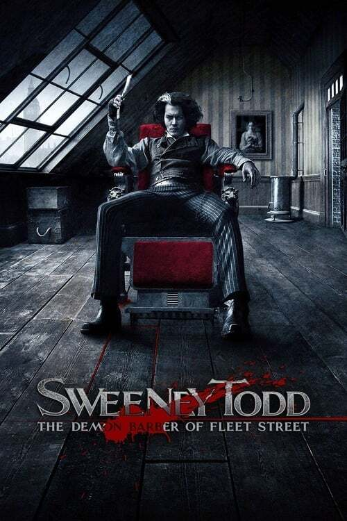 movie cover - Sweeney Todd: The Demon Barber Of Fleet Street