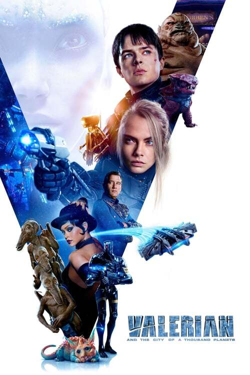 movie cover - Valerian And The City Of A Thousand Planets