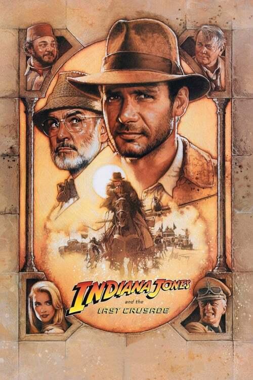 movie cover - Indiana Jones en de laatste kruistocht