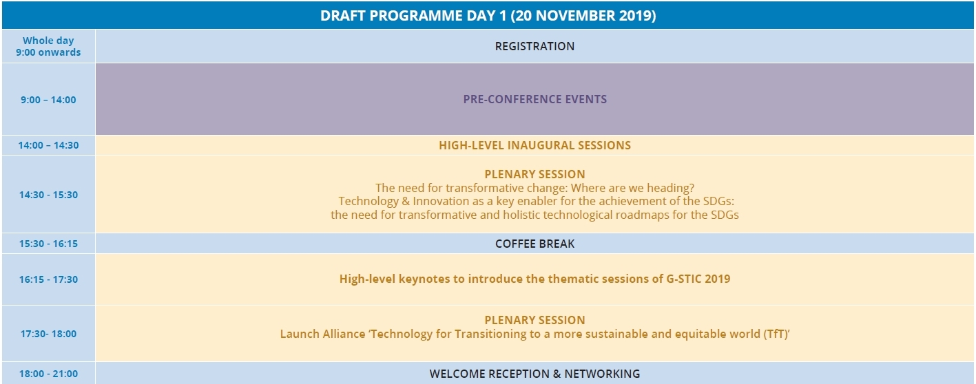 G-STIC 2019 Programme Day 1
