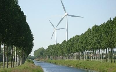 De allereerste Ecopower-windturbines in Eeklo