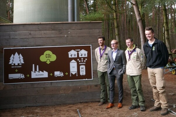 Afbeelding bij Scouts & Gidsen Vlaanderen kiezen voor groene warmte van Ecopower op De Brink