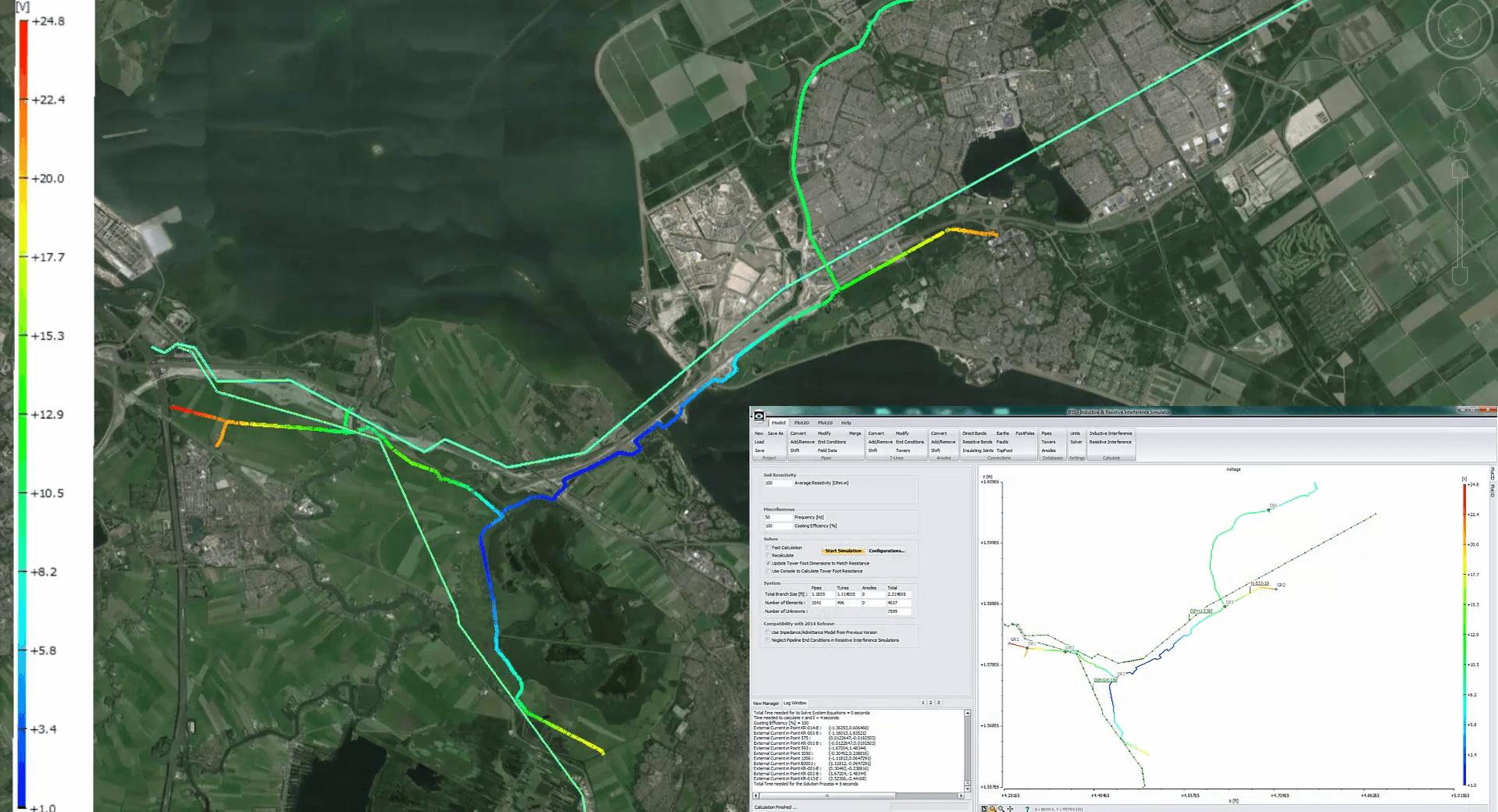 Elsyca IRIS - Pipeline GIS Overview AC Threats - Software Insight