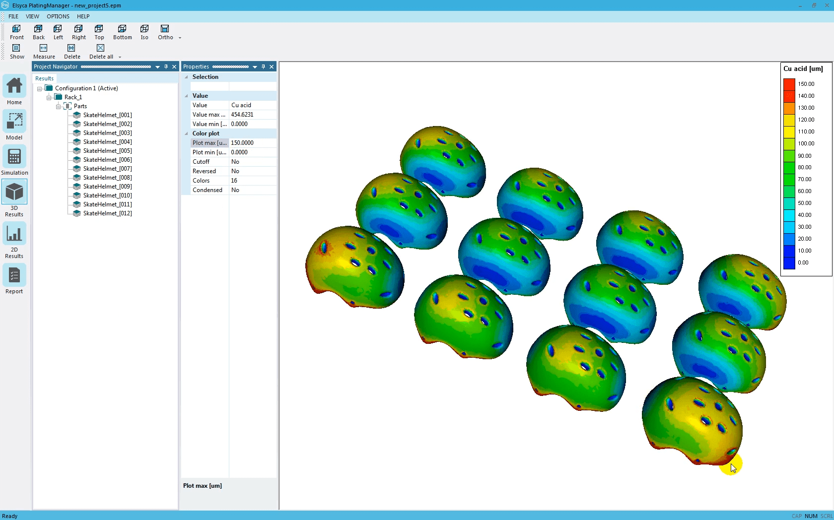 Visualize final thickness distribution