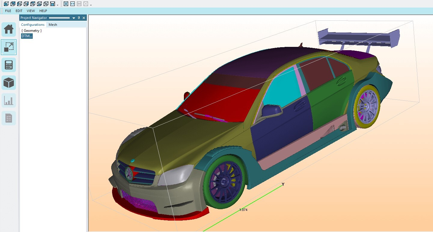 Elsyca MeshingMaster - Car geometry overview