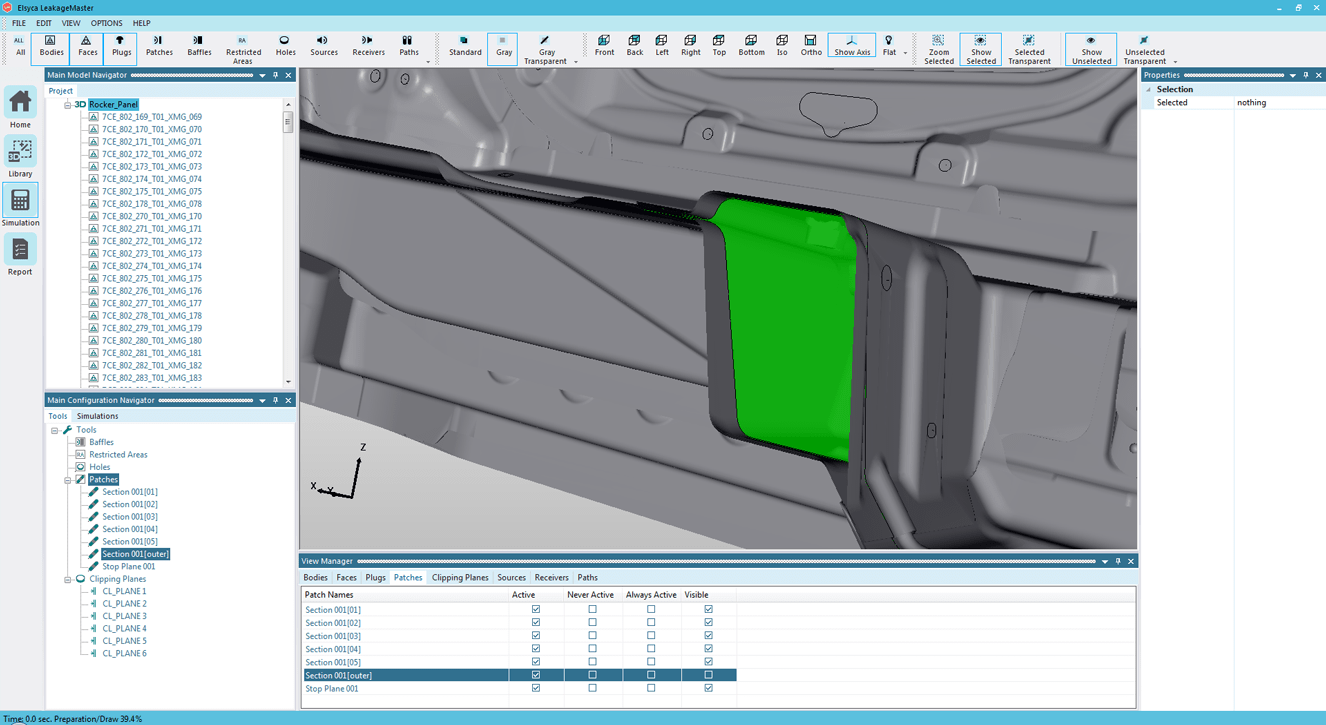 Stop plane automatically trimmed to follow the geometry contour