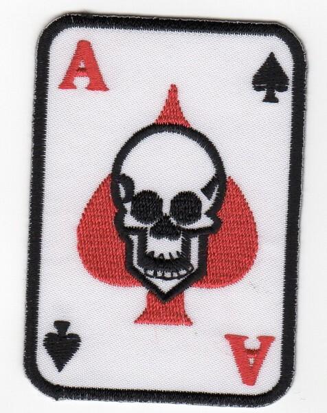 Écusson patche poker carré d/'as hotfix patch thermocollant casino