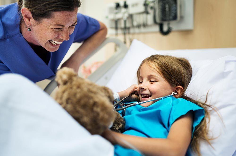 Meisje in ziekenhuis