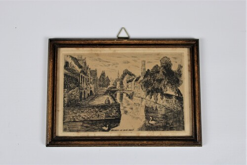 "thumbnails bij product etching ""Bruges - le quai vert"""
