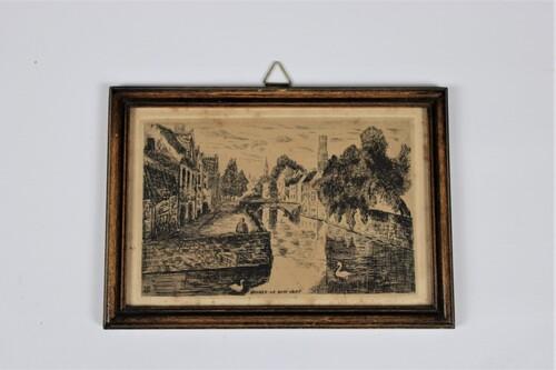 """thumbnails bij product gravure """"Bruges - le quai vert"""""""