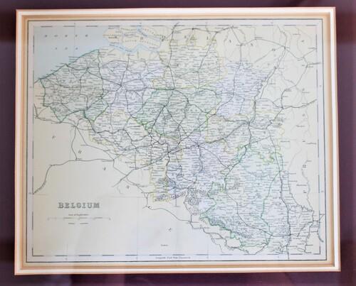 thumbnails bij product carte de Belgique, 1880
