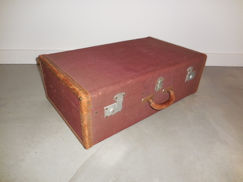 thumbnails bij product vintage suitcase in canvas