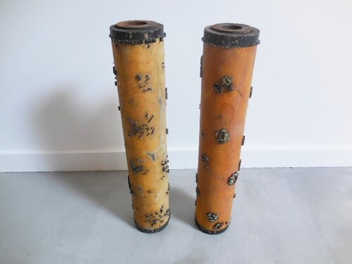 thumbnails bij product Old wooden printing cylinder