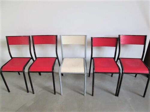 thumbnails bij product 5 chaises anciennes vintage