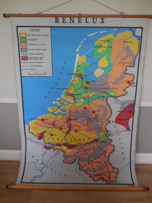 thumbnails bij product old school map of Benelux