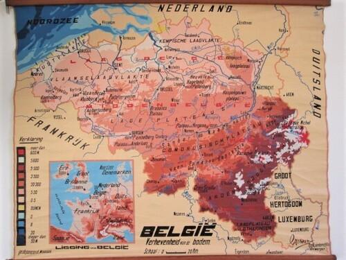 thumbnails bij product old school map of Belgium