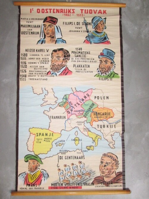 thumbnails bij product schoolplaat 1° Oostenrijks tijdvak