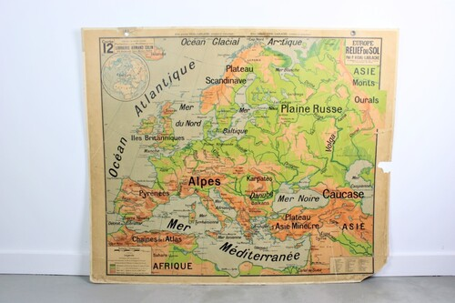 thumbnails bij product Old school map of Europe, 2 sides