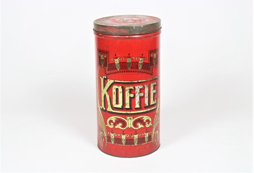 thumbnails bij product old red coffee tin
