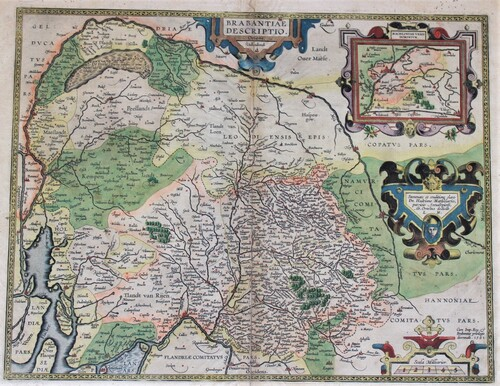 thumbnails bij product engraving of Brabant, A. Ortelius, 1595