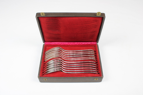 thumbnails bij product Zilveren bestek van de Brusselse zilversmid Delheid