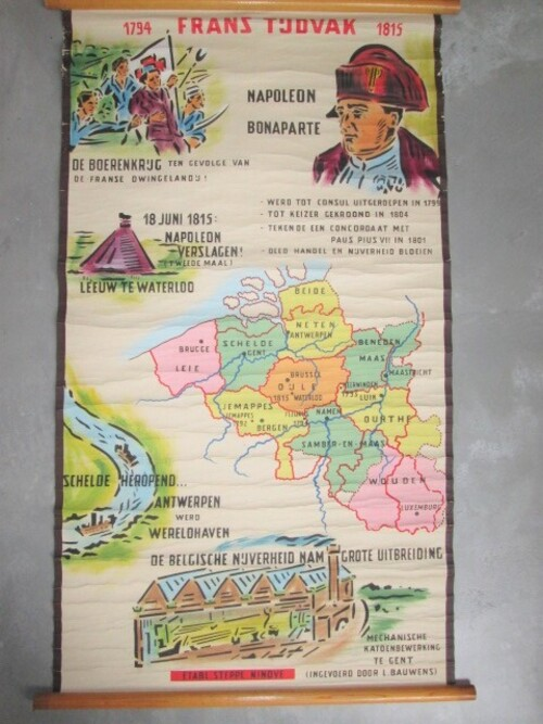 thumbnails bij product Old school map French occupation