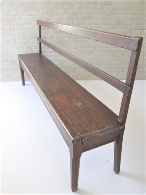 thumbnails bij product oude lange houten zitbank