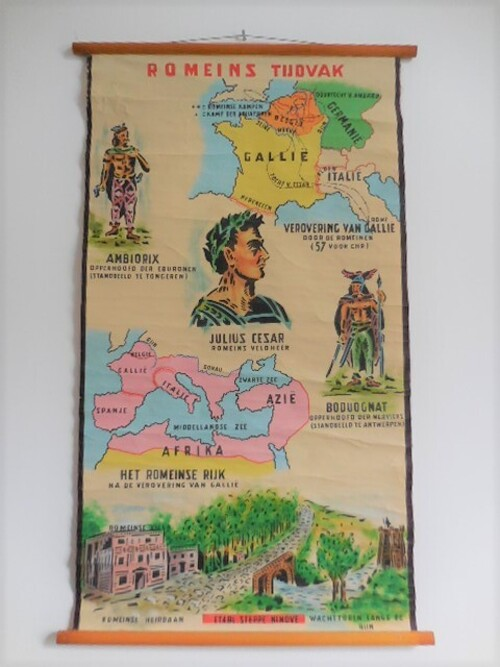 thumbnails bij product carte scolaire: les Romains