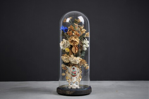 thumbnails bij product large bell jar with flowers