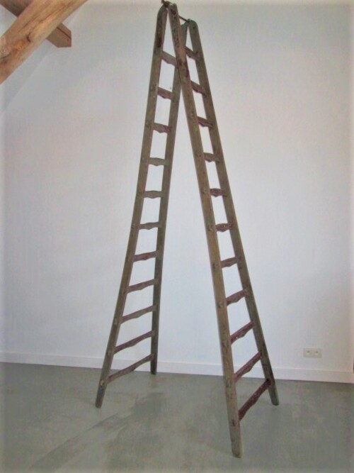 thumbnails bij product very high wooden ladder, 290 cm