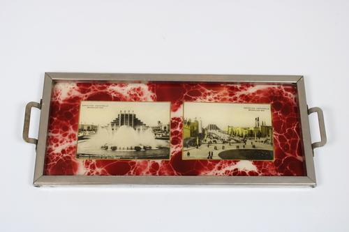 thumbnails bij product dienblad wereldtentoonstelling 1935 in Brussel