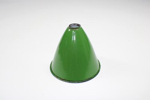 thumbnails bij product ancien abat-jour émaillé vert/blanc